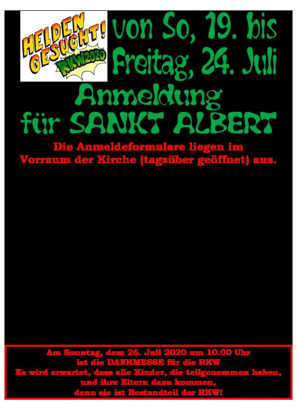 ABGESAGT - Ankündigung Religiöse Kinderwoche